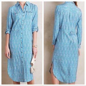 Maeve | Anthropologie Blue Jemima Shirt Dress